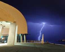 Lightning over Maritime museum 3