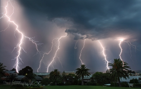 Lightning over Fremantle Facebook