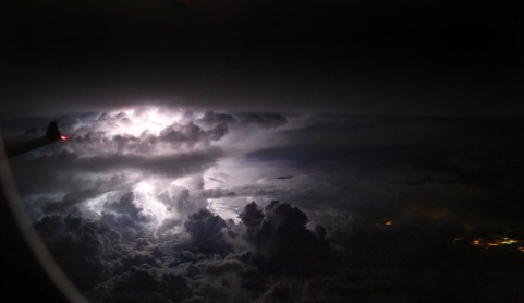 Lightning over Jakarta