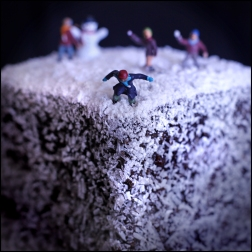 Lamington snowball fight CG
