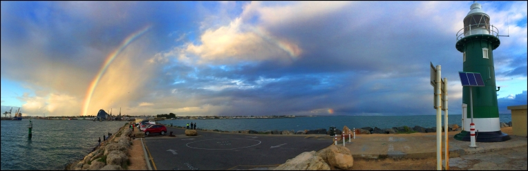 Rainbow over Fremantle